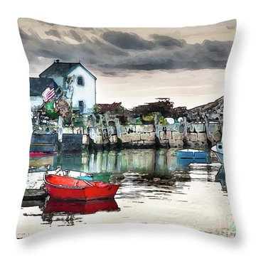 Throw Pillow featuring the photograph Tide's Out by Tom Cameron