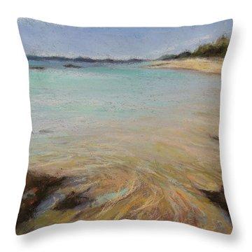 Tide's Retreat Throw Pillow