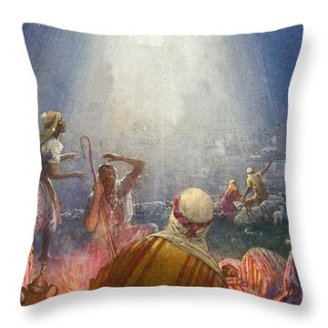 Tidings Of Great Joy Throw Pillow by John Millar Watt
