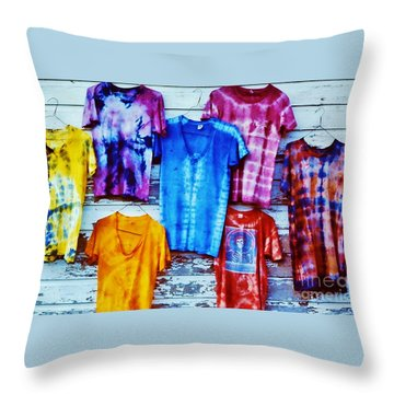 Grateful Dead Tie Dye Throw Pillow