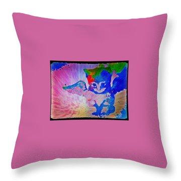 Tie Dye Tiger Throw Pillow