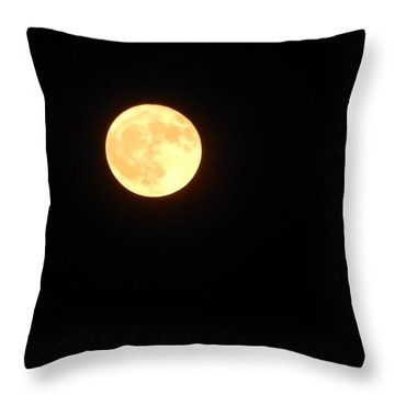 Tie Dyed Orange Moon Throw Pillow