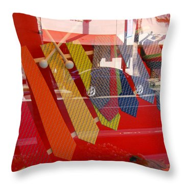 Tie One On Throw Pillow