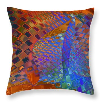 Tie Sposition Throw Pillow by Constance Krejci