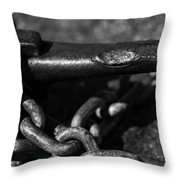 Throw Pillow featuring the photograph Tied Down by Jason Moynihan