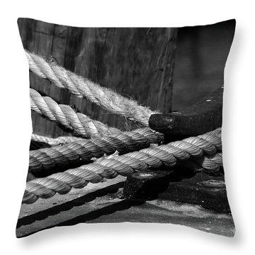 Tied Down Throw Pillow by Susanne Van Hulst