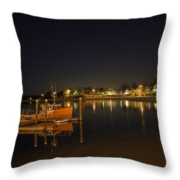 Throw Pillow featuring the photograph Tied Up For The Night by Greg DeBeck