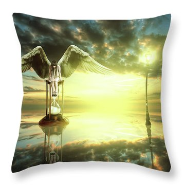 Throw Pillow featuring the digital art Time To Reflect by Nathan Wright