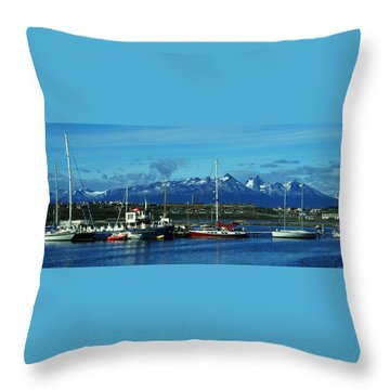 Tierra Del Fuego Throw Pillow by Juergen Weiss