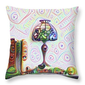 Tiffany Lamp Throw Pillow by Bill Cannon