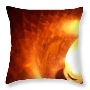 Tiffany Lamp Inside Throw Pillow