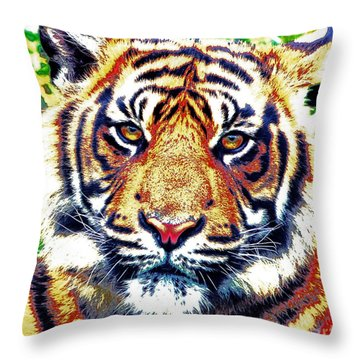 Tiger Art Throw Pillow