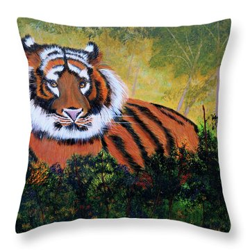 Tiger At Rest Throw Pillow