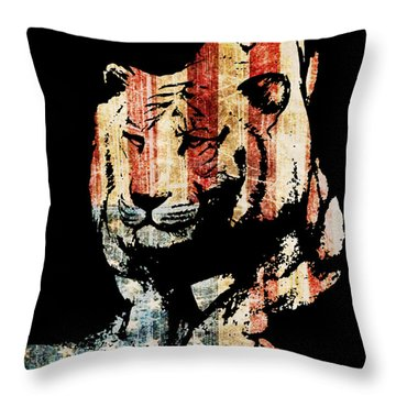 Tiger Collage #9 Throw Pillow