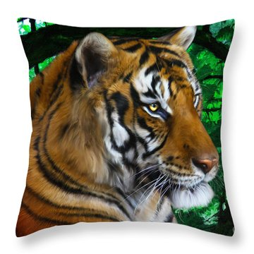 Tiger Contemplation Throw Pillow