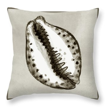 Throw Pillow featuring the painting Tiger Cowrie by Judith Kunzle
