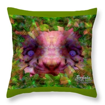 Throw Pillow featuring the photograph Tiger Cub by Barbara Tristan