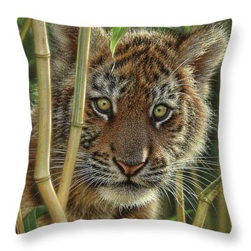 Tiger Cub - Discovery Throw Pillow