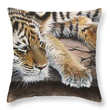 Tiger Cub Throw Pillow