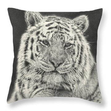 Tiger Drawing Throw Pillow