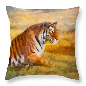 Tiger Dreams Throw Pillow