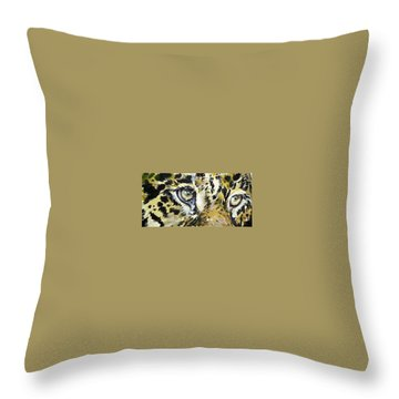 Throw Pillow featuring the painting Tiger Eyes by Kovacs Anna Brigitta