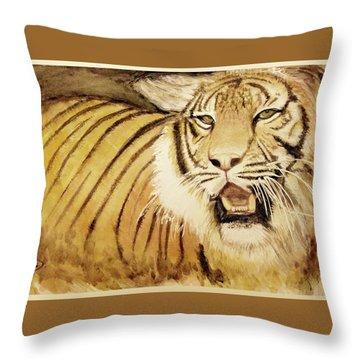 Tiger King Throw Pillow