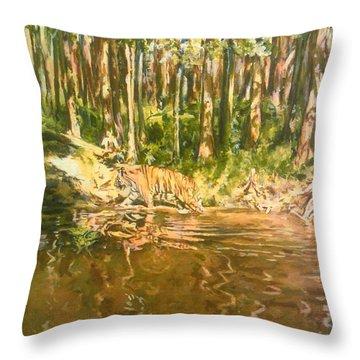 Tiger Lake Throw Pillow
