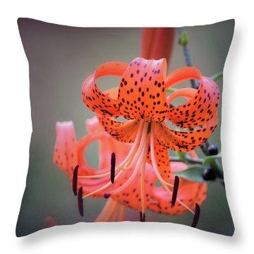 Tiger Lily 2 Throw Pillow