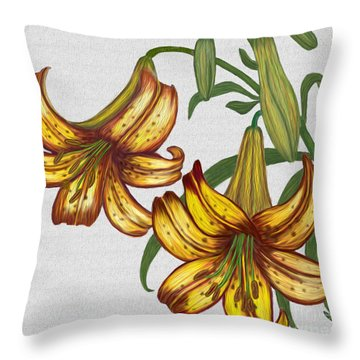 Tiger Lily Blossom  Throw Pillow