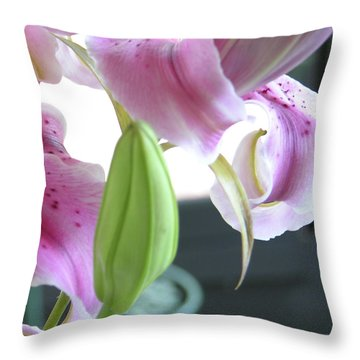 Tiger Lily Bud Throw Pillow