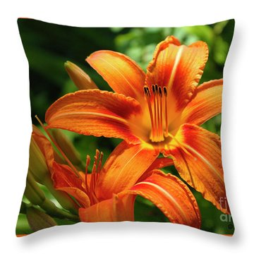 Tiger Lily Explosion Throw Pillow