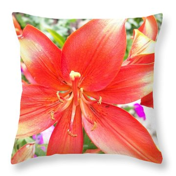 Throw Pillow featuring the photograph Tiger Lily by Sharon Duguay