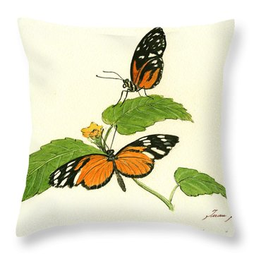 Tiger Longwing Heliconian Throw Pillow