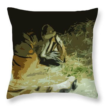 Throw Pillow featuring the photograph Tiger by Maggy Marsh