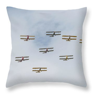 Throw Pillow featuring the photograph Tiger Moth Formation by Gary Eason