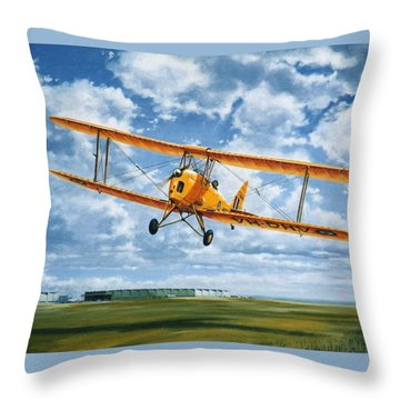 'tiger Moth - Wind Beneath My Wings' Throw Pillow