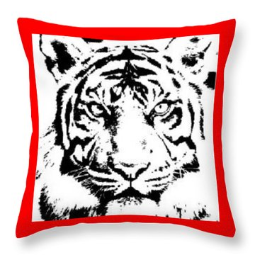 Tiger Throw Pillow by Now
