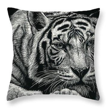Tiger Pause Throw Pillow