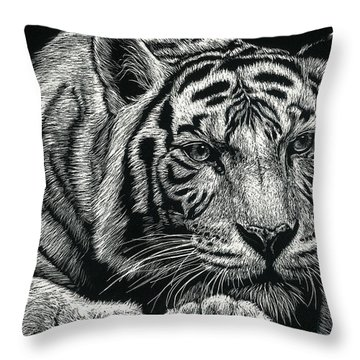 Tiger Pause Throw Pillow