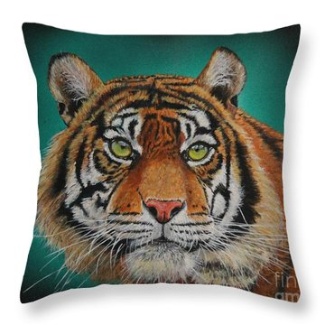 Tiger Portrait......amur Tiger Throw Pillow