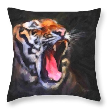 Tiger Roar Throw Pillow