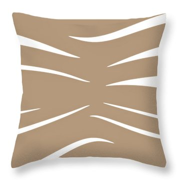 Coffee And Cream Tiger Stripes Throw Pillow by Heather Joyce Morrill