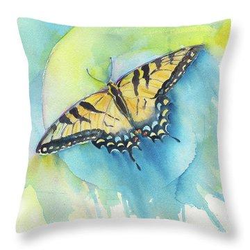 Tiger Swallowtail Throw Pillow