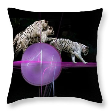 Tiger Tag Throw Pillow