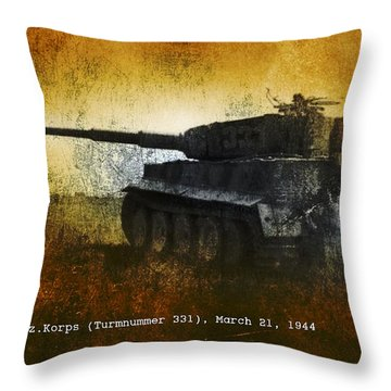 Tiger Tank Throw Pillow