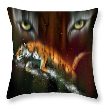Tiger, Tiger Burning Bright Throw Pillow