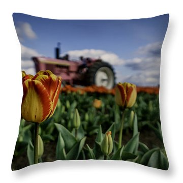 Throw Pillow featuring the photograph Tiger Tulip by Ryan Smith