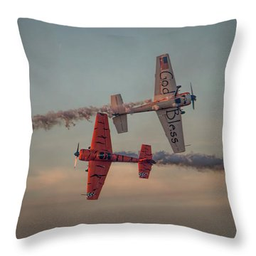 Tiger Yak 55 Throw Pillow