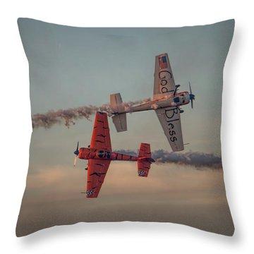 Tiger Yak 55 Throw Pillow